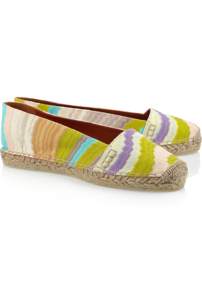 Slip these crochet espadrilles on with white jeans for a cool, colorful daytime look. Missoni Striped Crochet-Knit Espadrilles ($275)