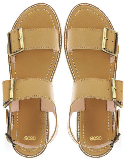 Simple and streamlined, these two-tone leather sandals will be your go-to shoes for Summer.  Asos Frederico Leather Flat Sandals ($84)