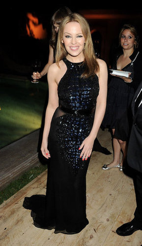 Kylie Minogue shined in a dark halter-style gown at the Killing Them Softly afterparty.