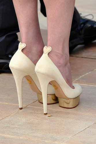 How cute are the back of Kirsten's Charlotte Olympia pumps?