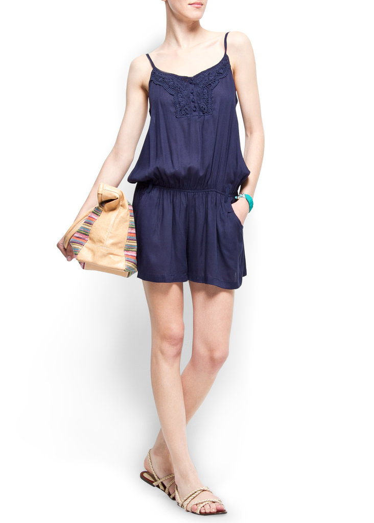 We love a romper for Summer, and this pretty navy piece has the sweetest crochet neckline.  Mango Crochet Jumpsuit ($45)