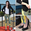 Kristen Stewart Cannes Balenciaga Printed Pants