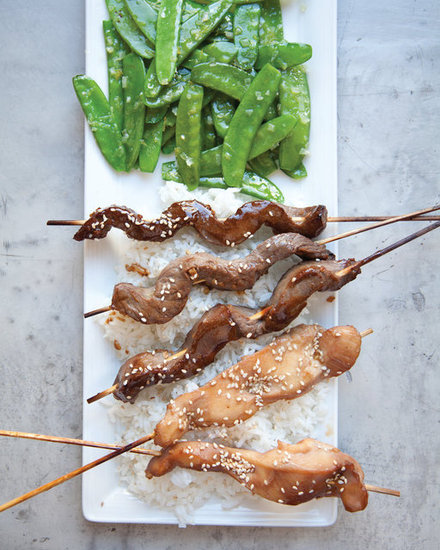 Teriyaki Chicken and Beef Skewers