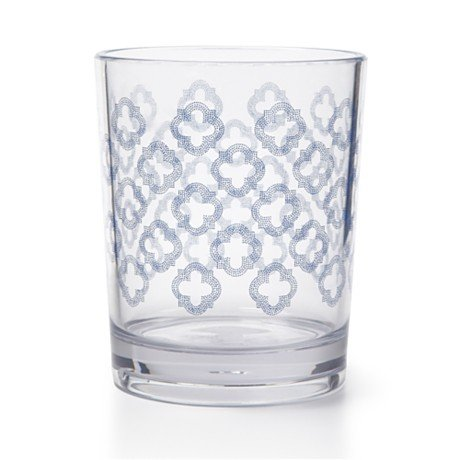These Q. Squared Double Old-Fashioned Glasses ($10 each) have a pleasing quatrefoil pattern, and because they're made of melamine, you won't have to worry about them breaking.