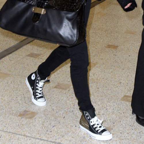 Nicole Richie Studded High-Top Converse