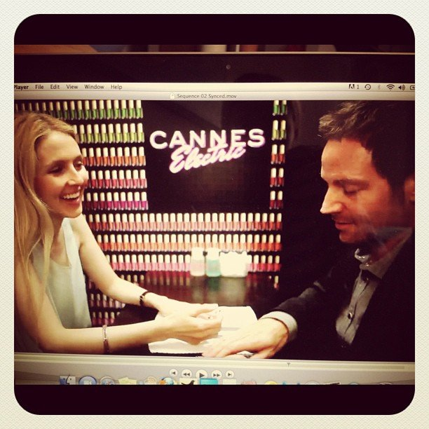 Allie, in H&M, filmed a piece on nail art with expert Tom Bachik.