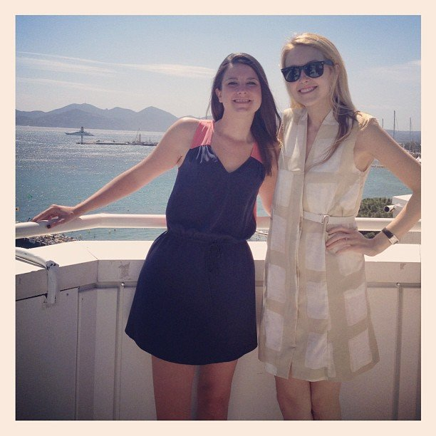 Allie, in H&M, shot a PopSugar Rush video at Nikki Beach.