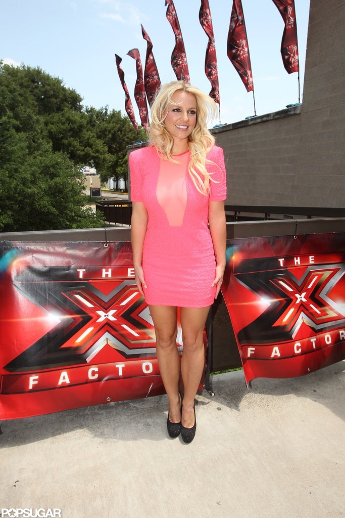 Britney Spears Rolls Into Austin For Her First Day of X Factor Auditions