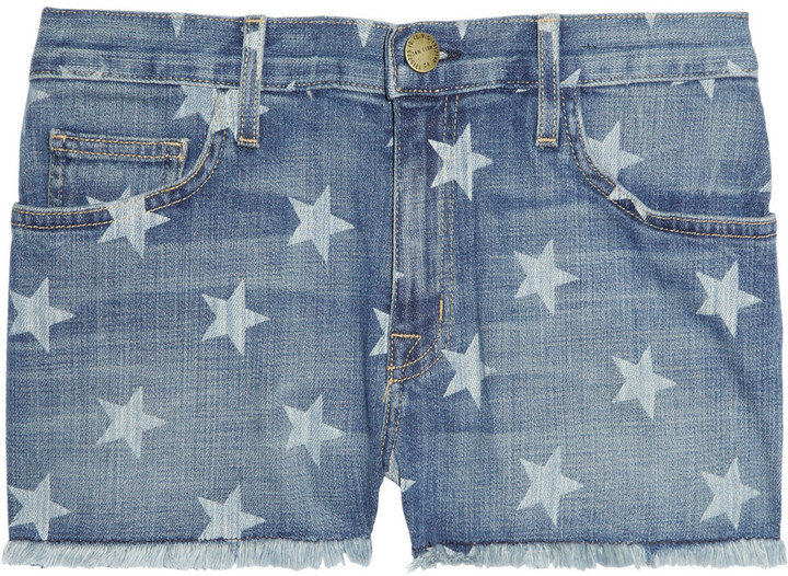 We'll be wearing these denim cutoffs this weekend, followed by on the Fourth of July, and again come Labor Day.  Current/Elliott The Boyfriend Star-Print Denim Shorts ($185)
