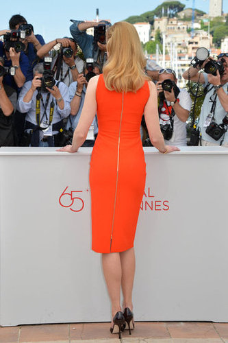 The back of the dress featured a slightly sexy full-length zipper.