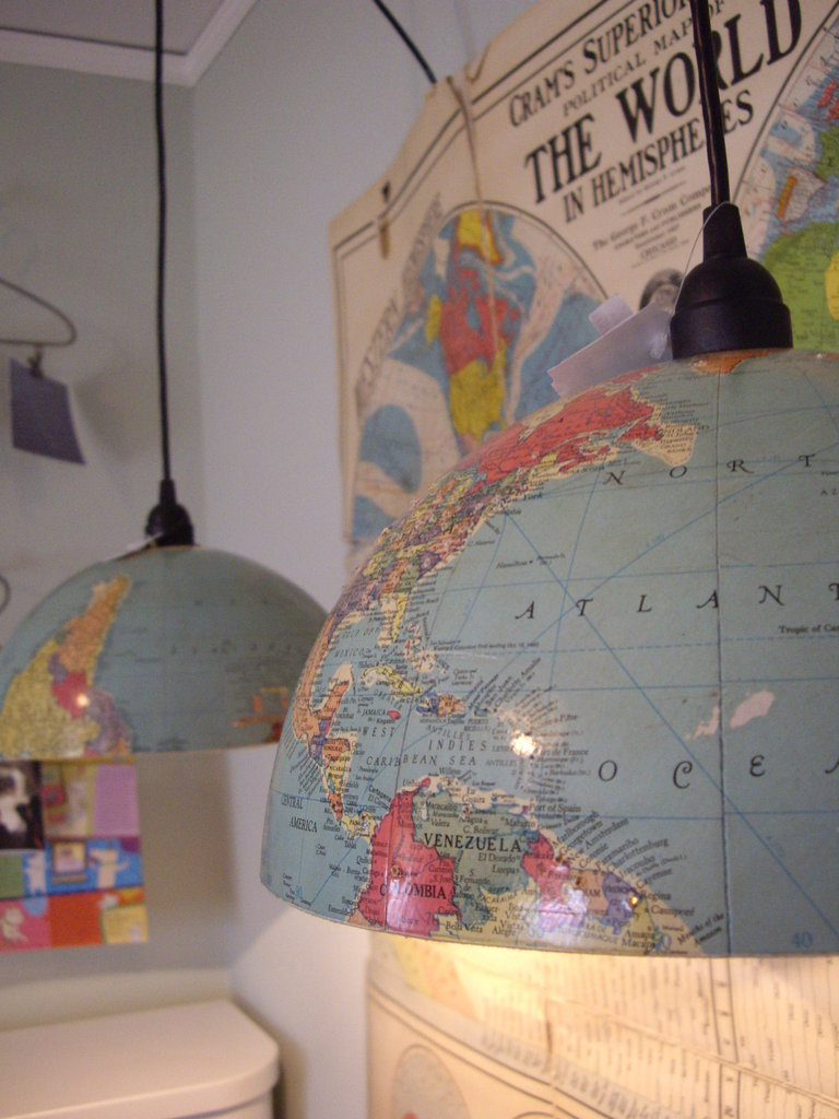 Globes as Pendant Lights
