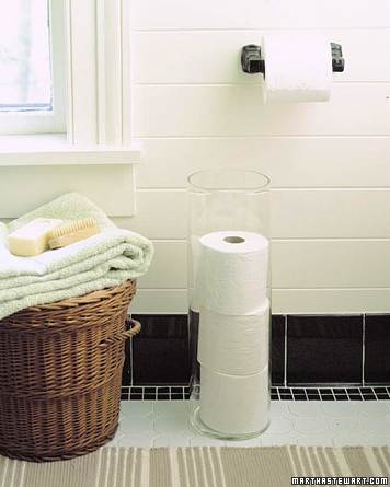 Umbrella Stand as Toilet Paper Stash