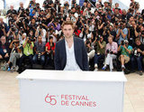 Robert Pattinson was on hand for the Cosmopolis photocall in Cannes.
