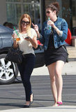 Lauren Conrad and her friend made a stop at Starbucks in LA.