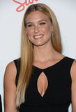 Bar Refaeli posed for photos on the red carpet in NYC.