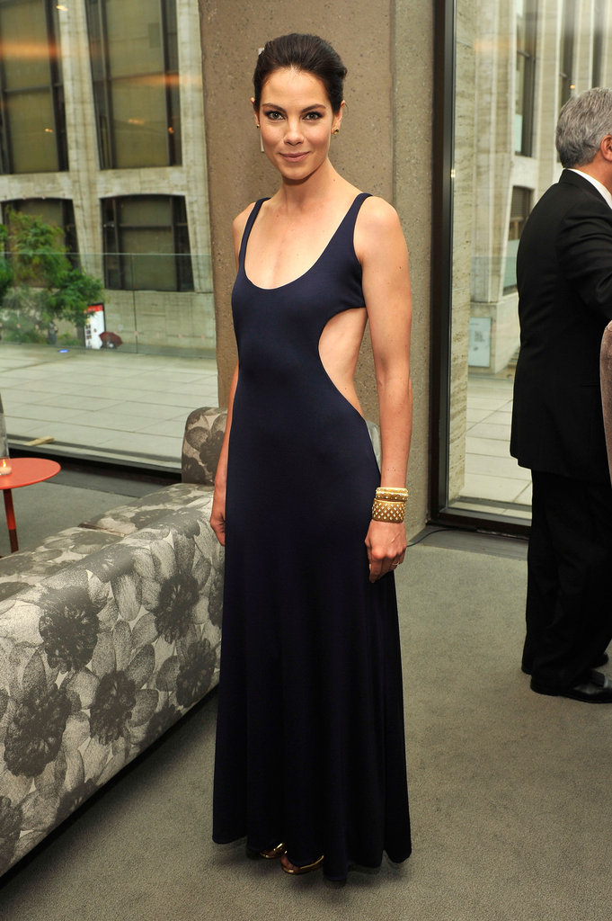 Michelle Monaghan looked ultrasophisticated in vintage Halston at the FiFi Awards.