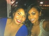 Deborah Mailman and Jessica Mauboy celebrated their successful premiere of The Sapphires at the Cannes Film Festival. Source: Twitter user jessicamauboy