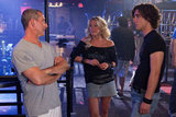 Adam Shankman, Julianne Hough, and Diego Boneta on the set of Rock of Ages. Photos courtesy of Warner Bros.