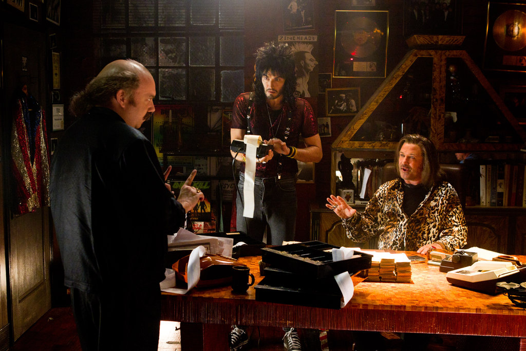 Paul Giamatti, Russell Brand and Alec Baldwin in Rock of Ages. Photos courtesy of Warner Bros.