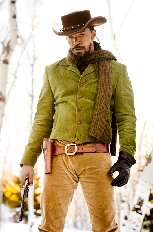 Jamie Foxx in Django Unchained. Photos courtesy of The Weinstein Co.