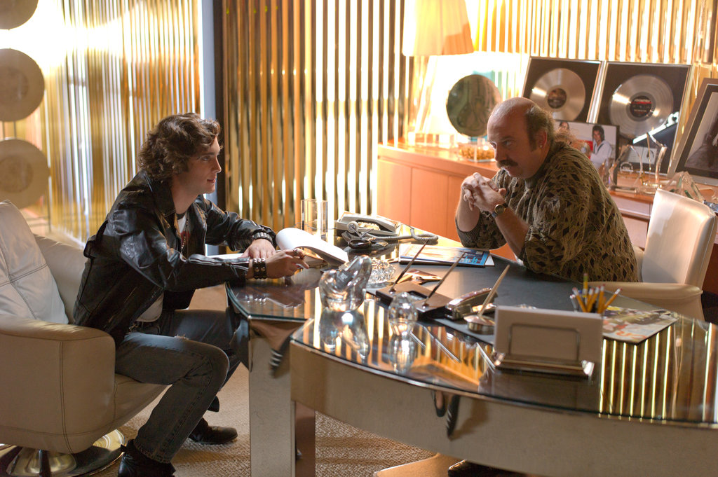 Diego Boneta and Paul Giamatti in Rock of Ages. Photos courtesy of Warner Bros.