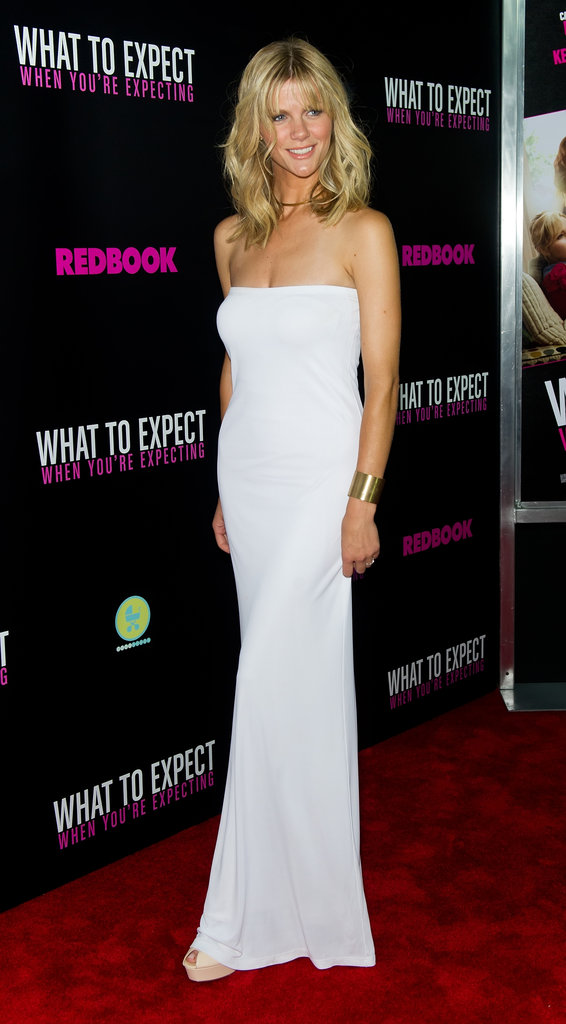 Brooklyn Decker wore white on this chic Calvin Klein column gown.
