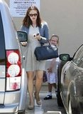 Jennifer Garner and Violet Affleck headed back to their car in LA.