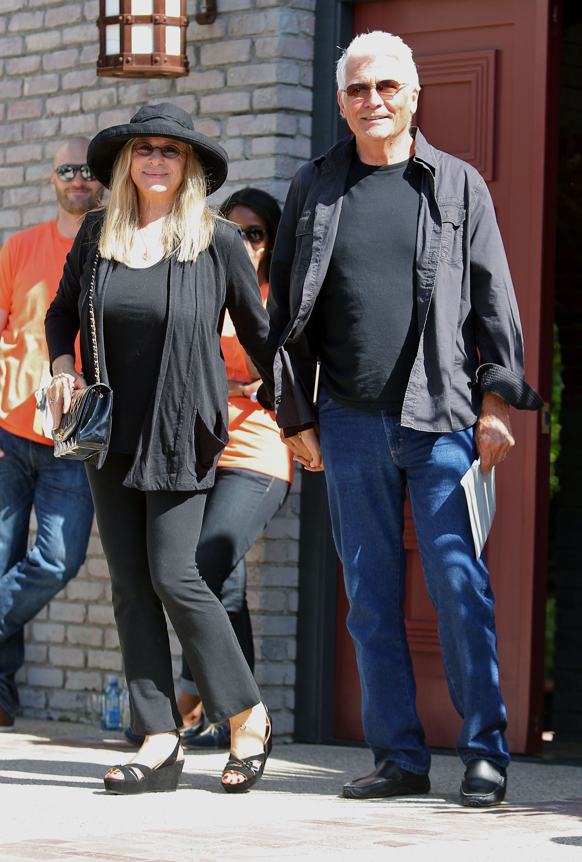 Barbra Streisand and James Brolin were attendees at a Memorial Day party