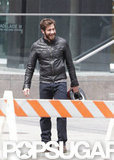 Jake Gyllenhaal had a laugh while shooting in Toronto.