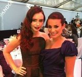 Lea Michele and Lily Collins looked gorgeous at the Glamour UK Women of the Year Awards. Source: Twitter user msleamichele