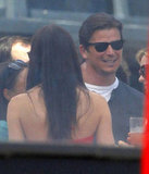 Josh Hartnett had a laugh with friends at Joel Silver's Memorial Day party in LA.