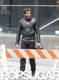 Jake Gyllenhaal was all smiles on set in Canada.