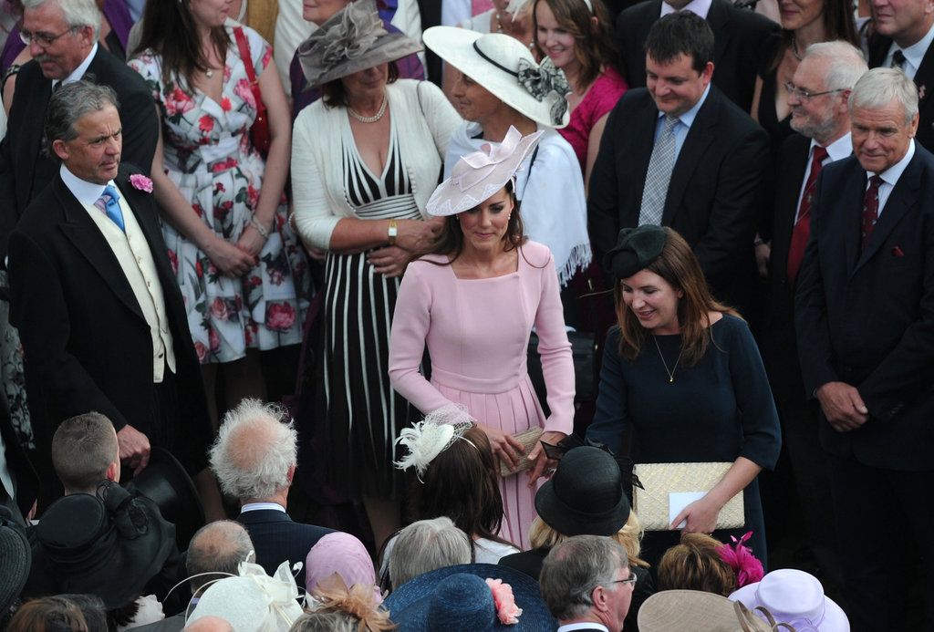 Kate Middleton was lovely in light pink at the event.