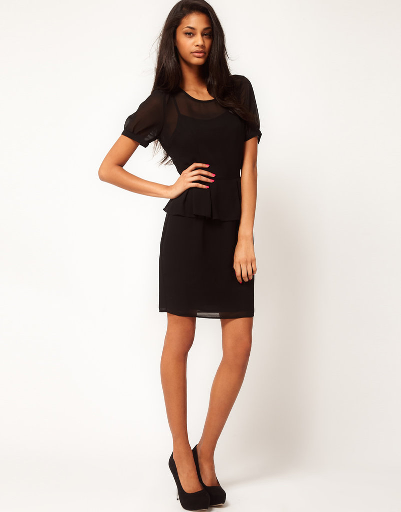 We couldn't resist this subtly sexy LBD — with a peplum silhouette, no less. This frock is perfect for a sophisticated evening ensemble and can double as a go-to wedding guest outfit. ASOS Peplum Dress With Short Sleeves ($61)