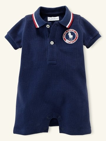 Layette Team USA Polo Shortall ($45)