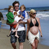 Tori Spelling Pregnant in Bathing Suit