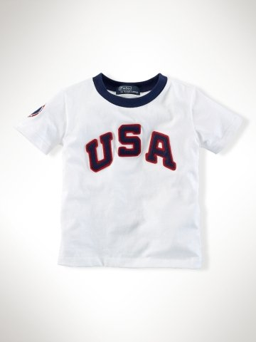 Infant Boys Team USA Ringer Tee ($25)
