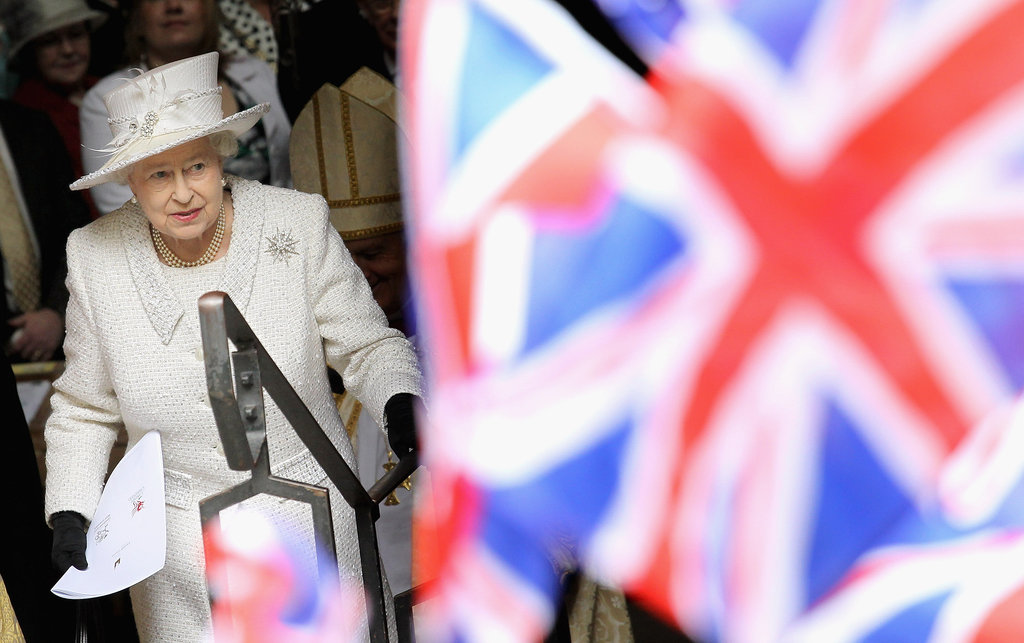 The queen left a service in Cardiff, Wales. The Queen and Duke of Edinburgh took a two-day visit of Wales.