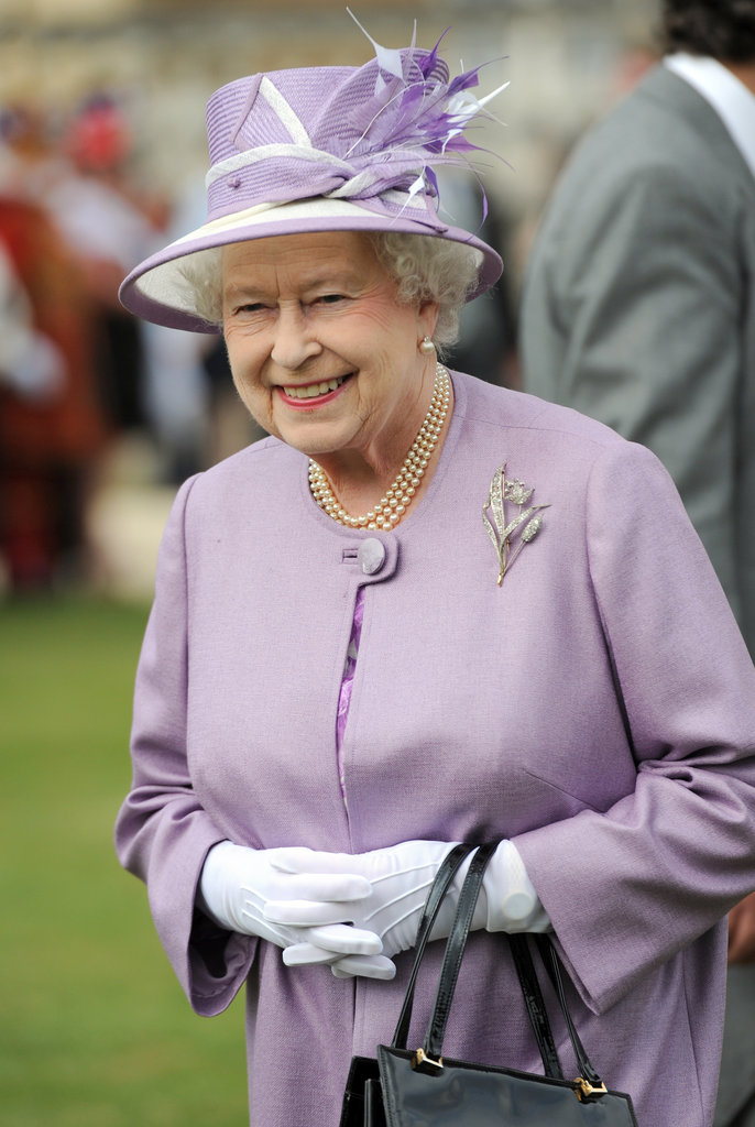 The queen enjoyed a garden party at Buckingham Palace.