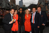 Standing next to Lenny Kravitz with the Today team when they aired from Federation Square in Mar. 2012.