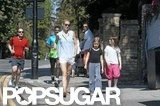 Gwyneth Paltrow and daughter Apple spent time together during a stroll in London.