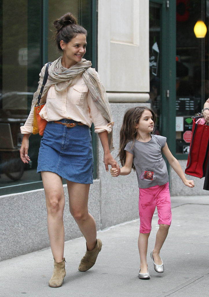 Katie Holmes and Suri Cruise had a mother daughter day in NYC.