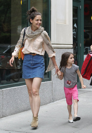 Katie Holmes and Suri Cruise Hit the NYC Streets Hand in Hand