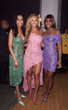 Beyoncé Knowles got together with her Destiny's Child band members Kelly Rowland and Michelle Williams back at the 2001 awards.