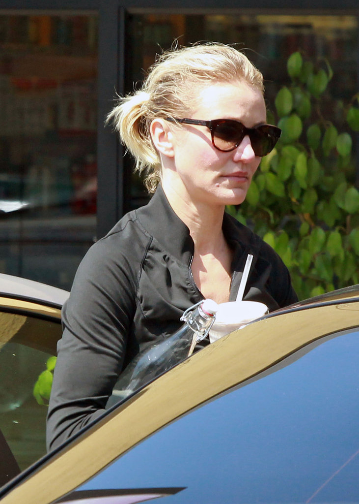 Cameron Diaz left a fitness center.