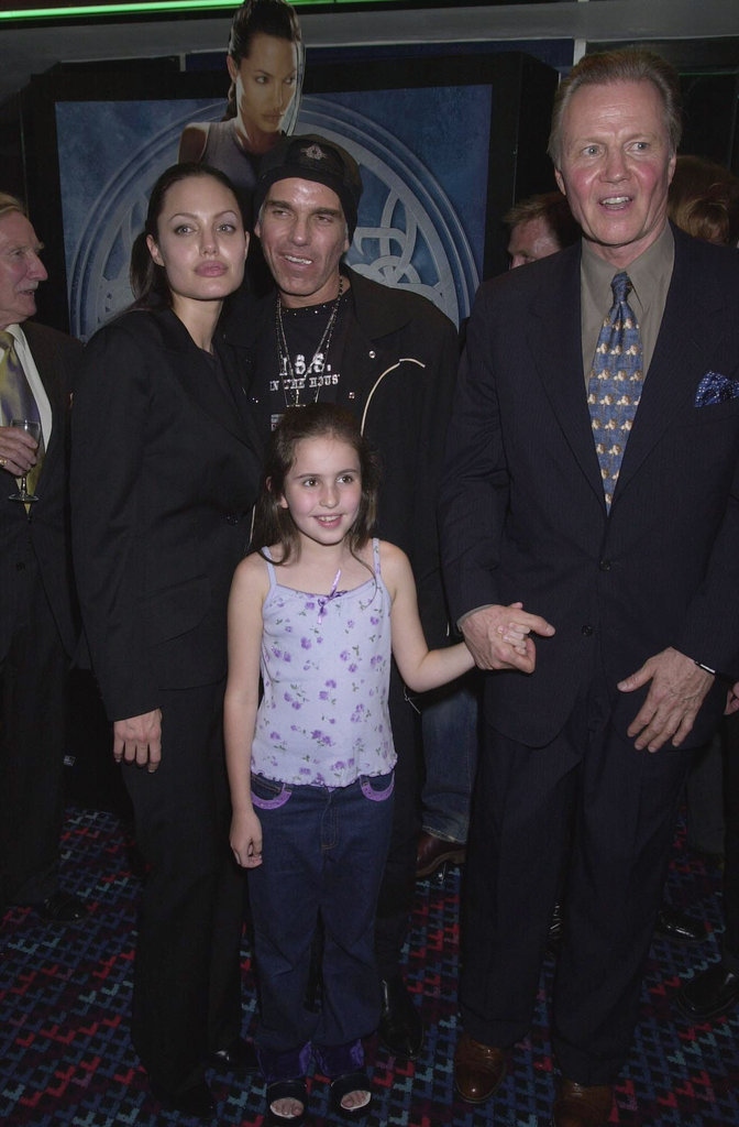 Angelina Jolie and then-husband Billy Bob Thornton joined Jon Voight and a young pal for the July 2001 premiere of Tomb Raider in London. Billy Bob and Angelina were married from 2000 to 2003.