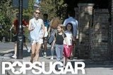 Gwyneth Paltrow enjoyed the sunshine during a walk in London with Apple.