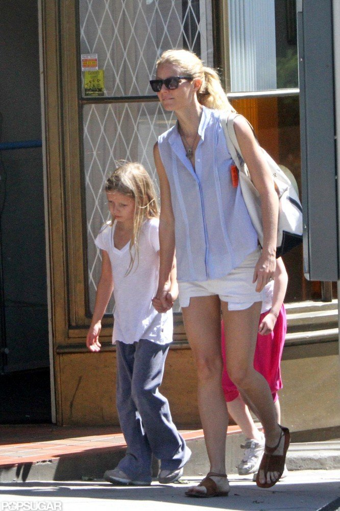 Gwyneth Paltrow held Apple's hand while out and about in London.