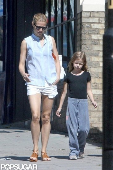 Gwyneth Paltrow took a walk in London with daughter Apple Martin.