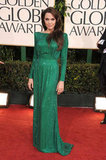 Angelina Jolie was a vision in green at the Golden Globe Awards in January 2011.